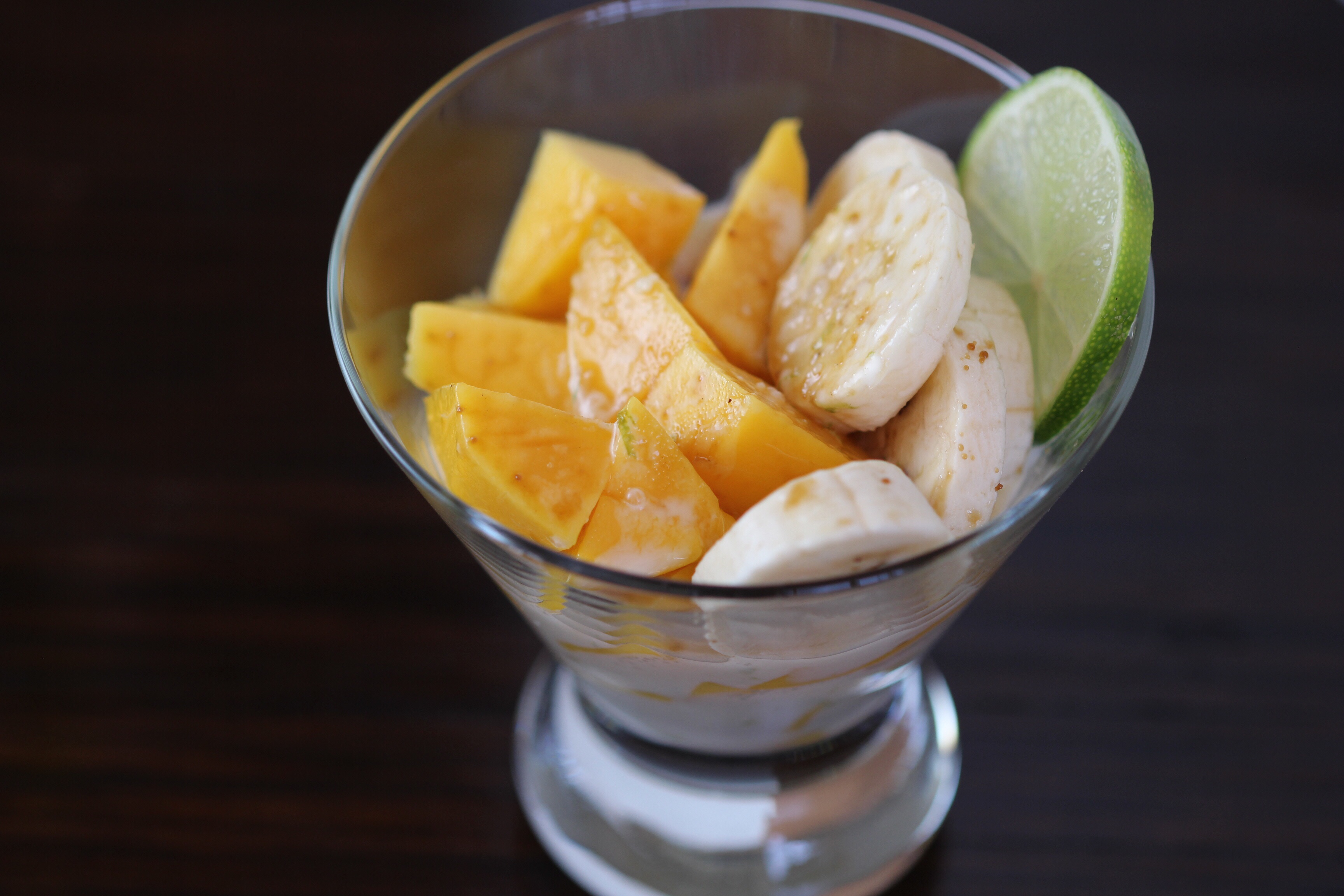 Mango Banana Dessert with Lime Coconut Cream – Ocean View ...