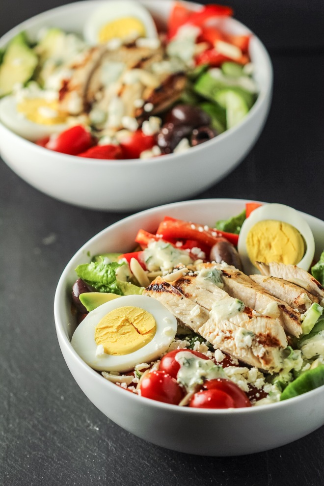 Greek Chicken Salad with Feta Cheese Dressing