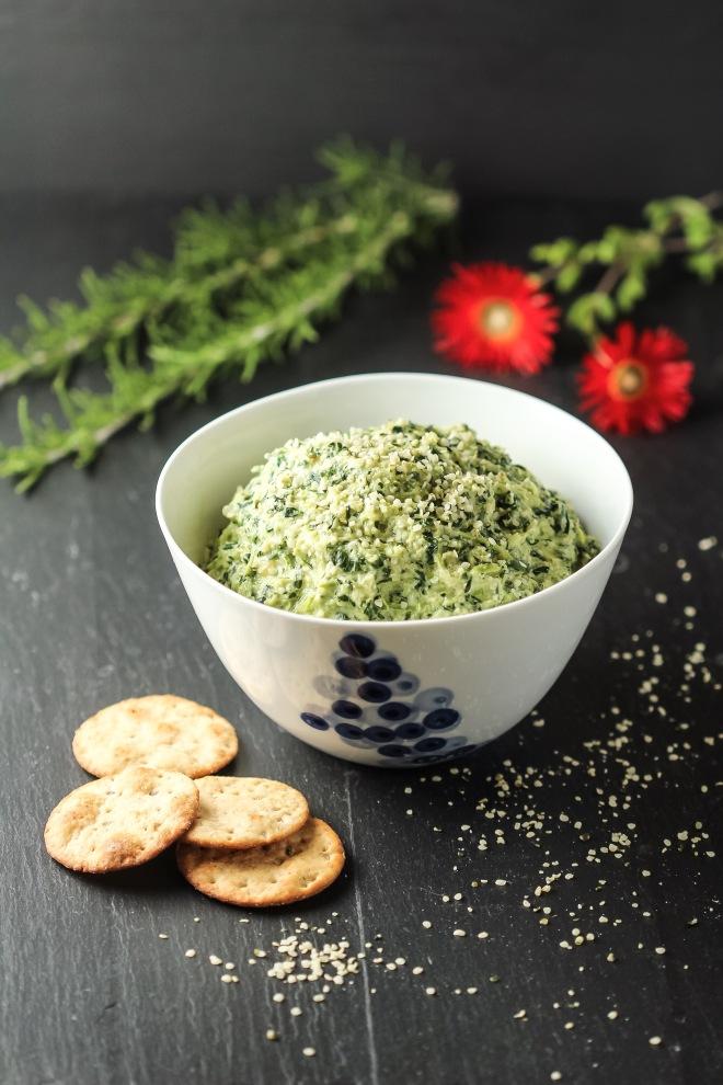 Hot Creamy Kale Dip