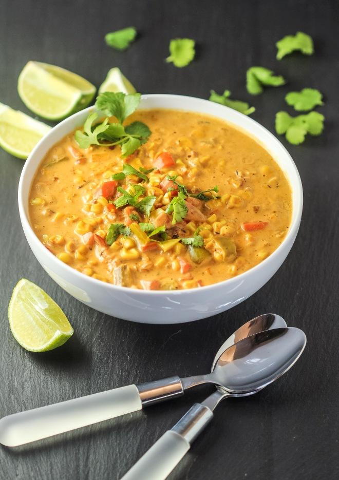Creamy Roasted Corn Soup