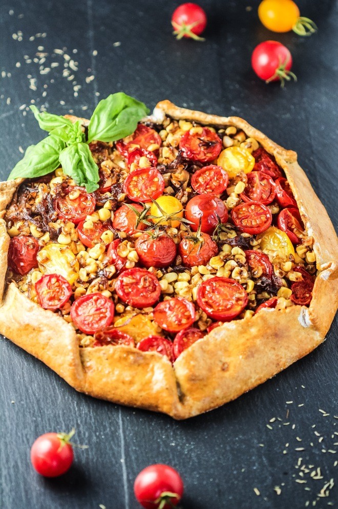 Tomato Corn Gallette