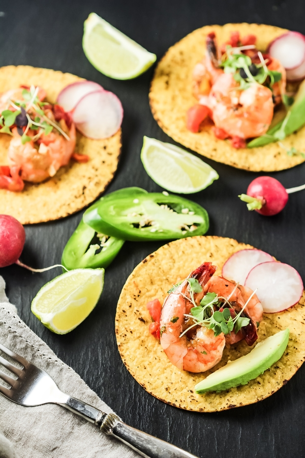 Easy Shrimp Tostadas